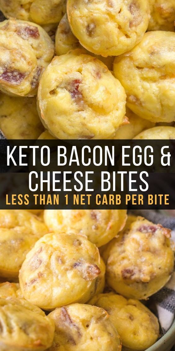 keto bacon egg and cheese bites