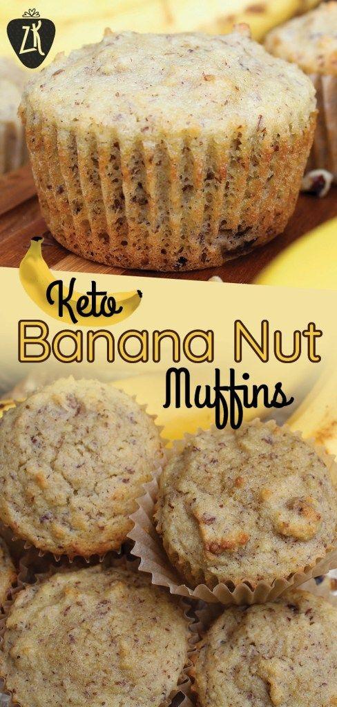 keto banana nut muffins