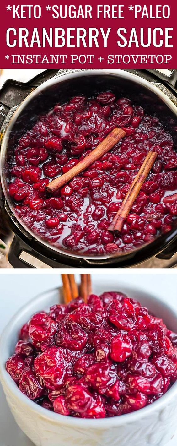 keto instant pot cranberry sauce