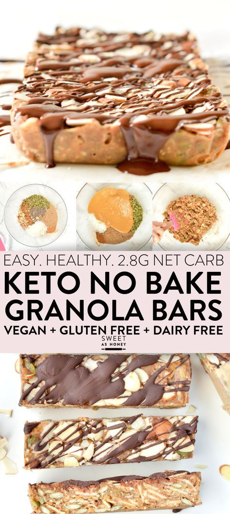 keto no bake granola bars
