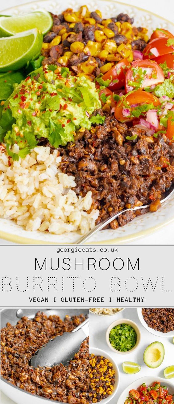 mushroom burrito bowl