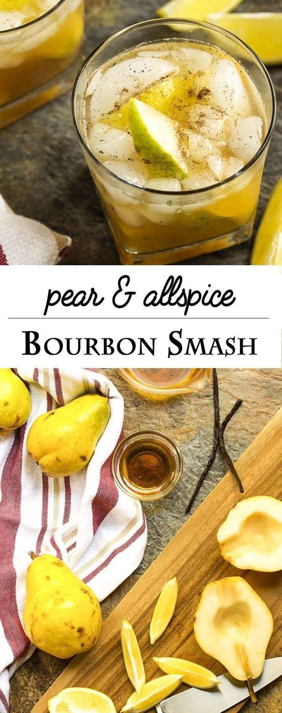 pear and allspice bourbon smash