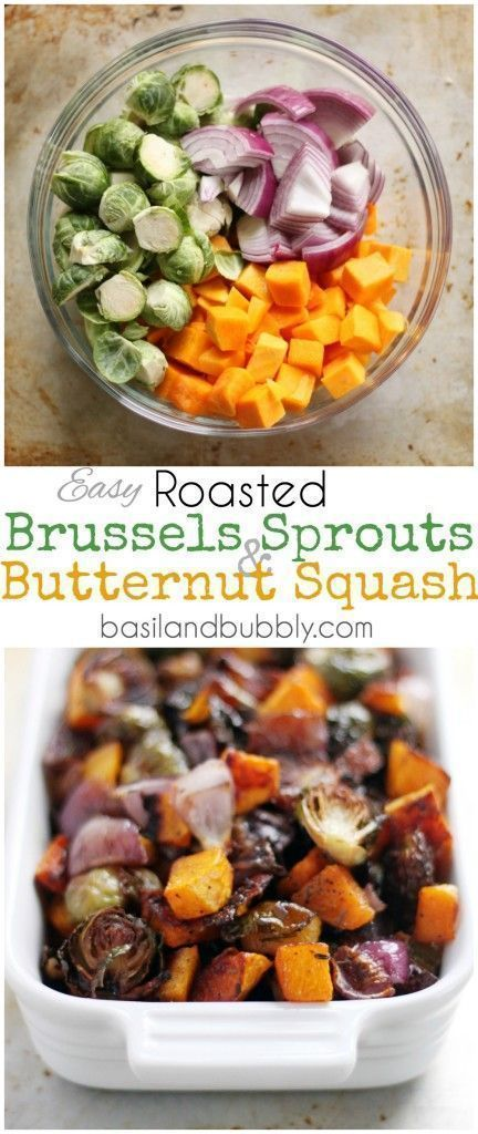 roasted brussels sprouts and butternut squash