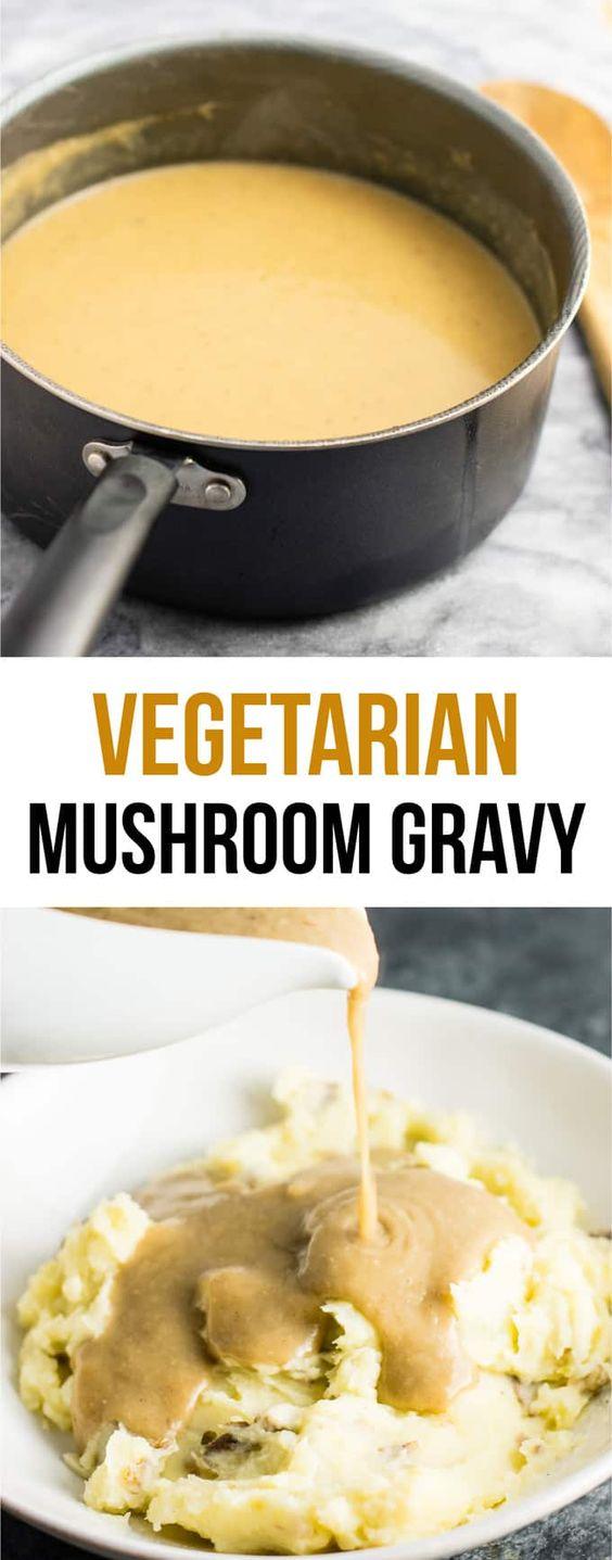 vegetarian mushroom gravy