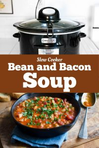 Slow Cooker Bean and Bacon Soup