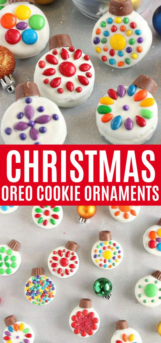 christmas oreo cookie ornaments