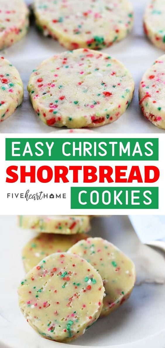 easy christmas shortbread cookies