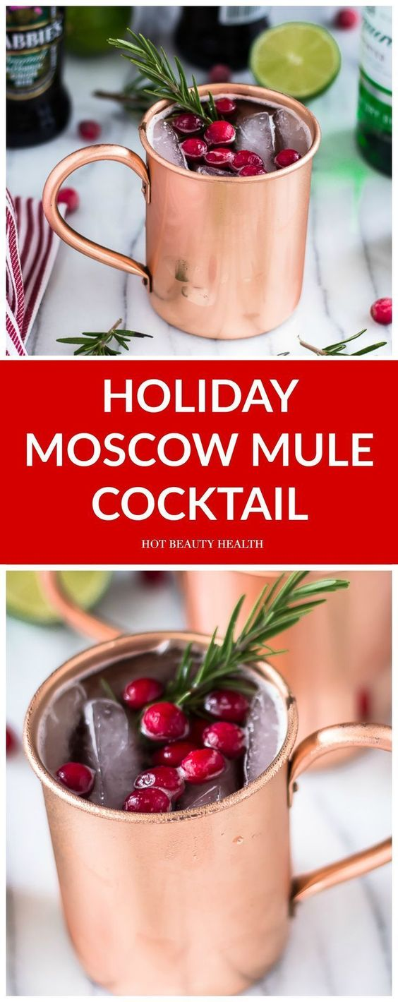 holiday moscow mule cocktail