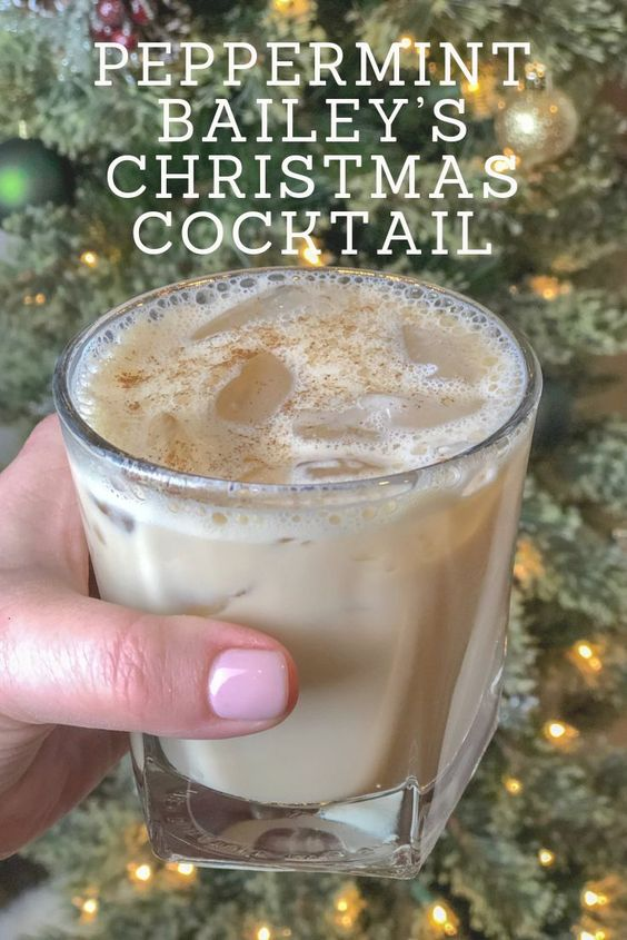 peppermint bailey's christmas cocktail