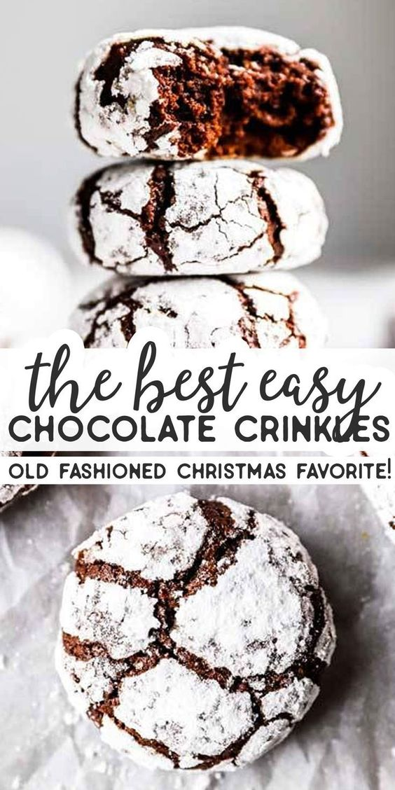 the best easy chocolate crinkles
