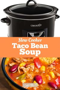 Slow Cooker Taco Bean Soup
