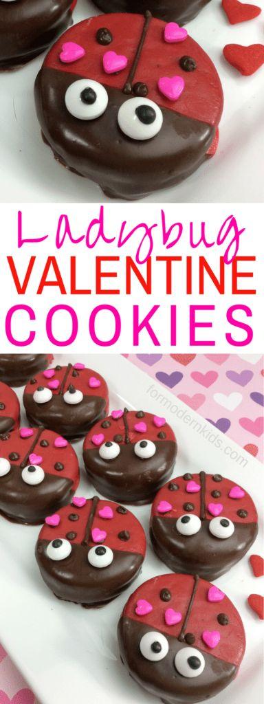 ladybug valentine cookies