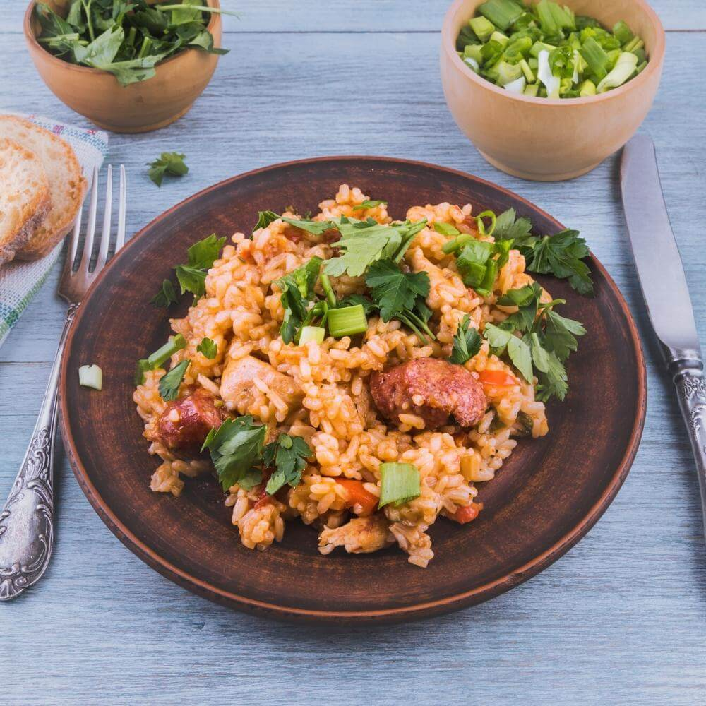 Instant Pot Cajun Chicken And Sausage Jambalaya