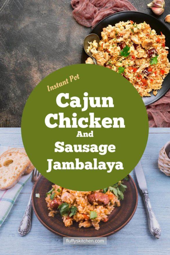 Instant Pot Cajun Chicken And Sausage Jambalaya