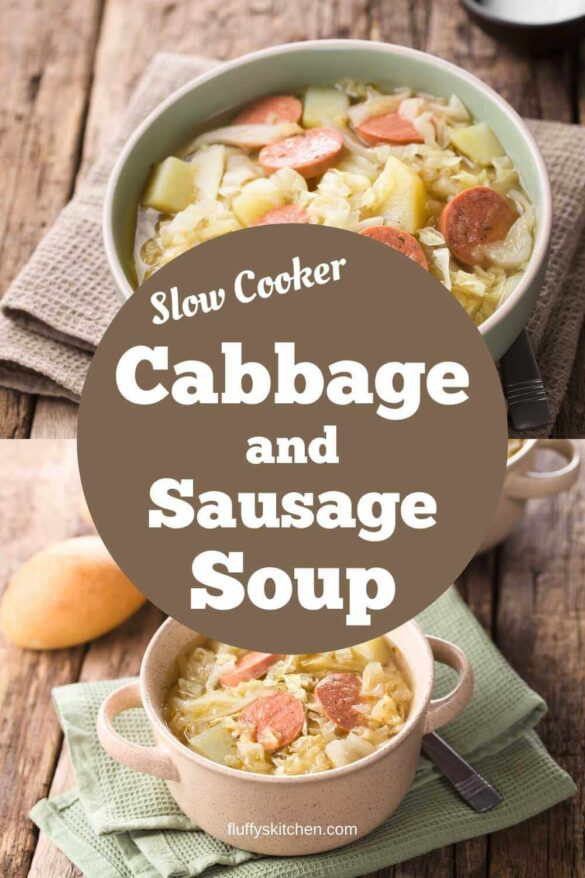 Slow Cooker Cabbage And Sausage Soup