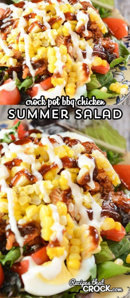 crock pot bbq chicken summer salad