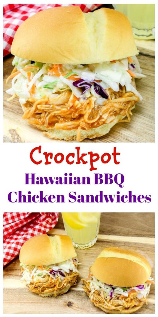 crock pot hawaiian bbq chicken sandwiches