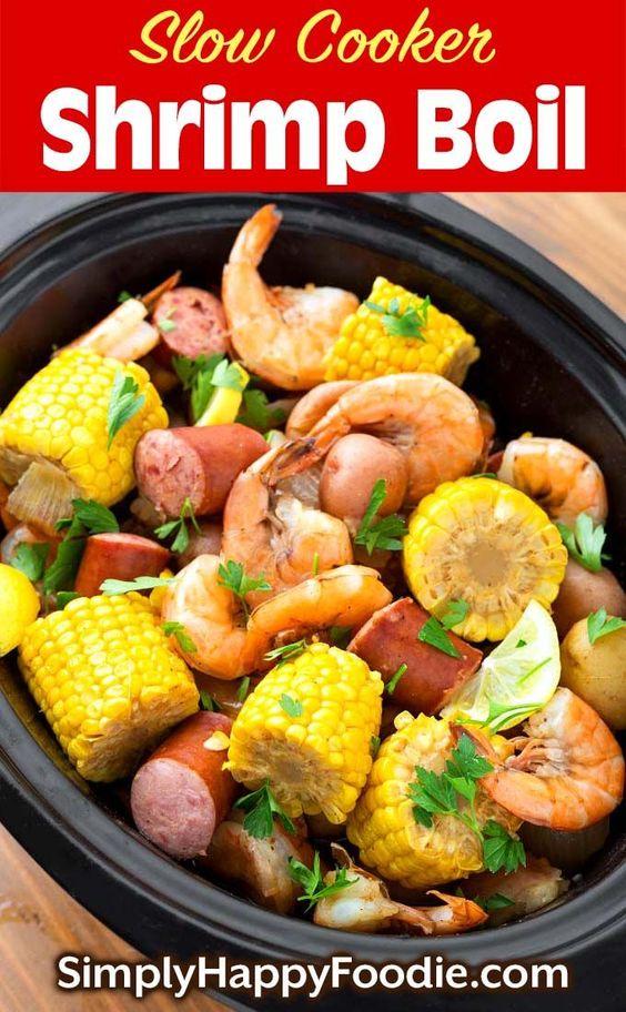 slow cooker shrimp boil