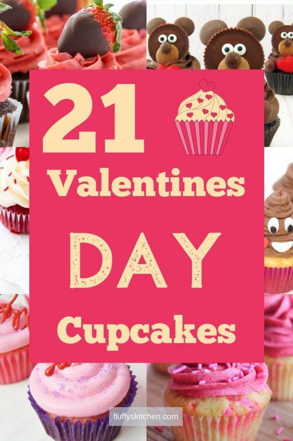 21 Valentines Day Cupcakes